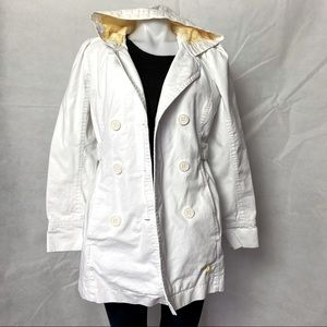 Roxy Hooded Pea Coat Floral Lining
